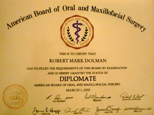 American Board Oral Maxillofacial Surgery